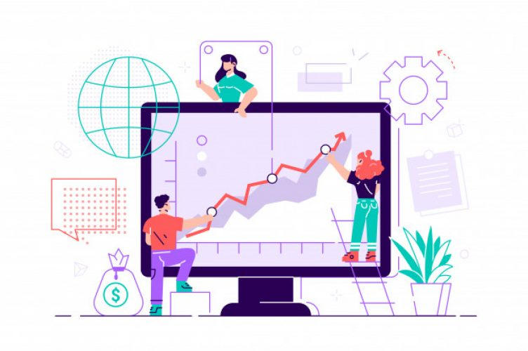 business-people-are-pushing-up-their-graph-upward-teamwork-business-presentation-flat-illustration-graphic-design-business-concept-mobile-assistant-mobile-banking-business-assistant_126608-230